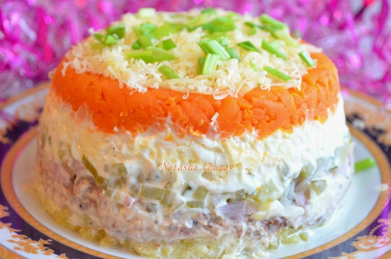 Салат с рыбной консервой рецепт очень вкусный с