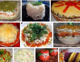 Миниатюра к статье Подборка салатов для новогоднего стола