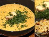 Миниатюра к статье Крем-суп из белых грибов с чесночными гренками)