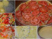 Миниатюра к статье Деревенский пирог из картофельного теста с мясом и овощами