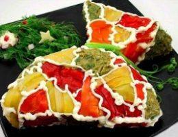 Миниатюра к статье Закусочный торт из слоеного теста «Мешочек счастья»