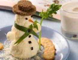 Миниатюра к статье Салат закусочный «Снеговик»