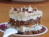 Миниатюра к статье Шоколадно-кокосовый торт.