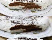 Миниатюра к статье Творожно-сметанный торт-суфле с печеньем