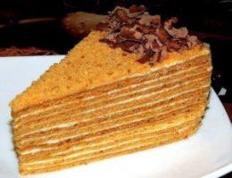 Миниатюра к статье Рецепт торта «Медовик»