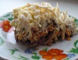 Миниатюра к статье Обалденный печеночный салатик