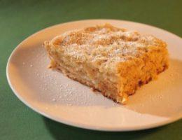 Миниатюра к статье Самый быстрый яблочный пирог (без яиц)