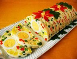 Миниатюра к статье Желейный салат с яйцами и овощами