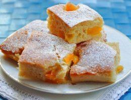 Миниатюра к статье Творожный пирог с карамелизированными абрикосами