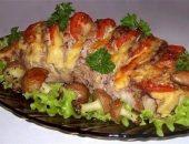 Миниатюра к статье Свинина, запеченная гармошкой, с картофельными грибочками
