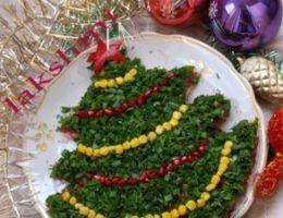 Миниатюра к статье Салат «Новогодняя елка»